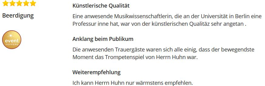 https://www.eventpeppers.com/de/wolfgang-huhn-diplom-musiker-trompete/reviews